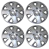 1996 ford ranger wheel cover - TuningPros WSC3-026S15 4pcs Set Snap-On Type (Pop-On) 15-Inches Metallic Silver Hubcaps Wheel Cover
