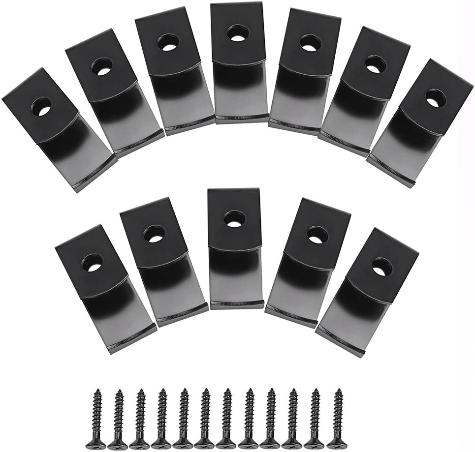 Sumnacon Flower Pot Clips, 12 Pcs Hard Steel Durable Plant Pot Latch Hangers Hook, Holds 5 to 8 Clay PotS, Terra Cotta Pots with A Lip Around The Edge Black
