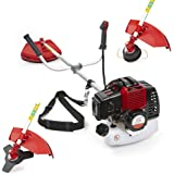 NEW TRUESHOPPING® PROFESSIONAL PETROL GRASS STRIMMER POWERFUL BRUSHCUTTER HEAVY DUTY MODEL 2-STROKE 49CC 1.5KW 2HP