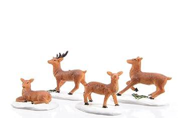 Amazon De Hirsch Reh Tiere Waldtiere Figuren Tischdeko