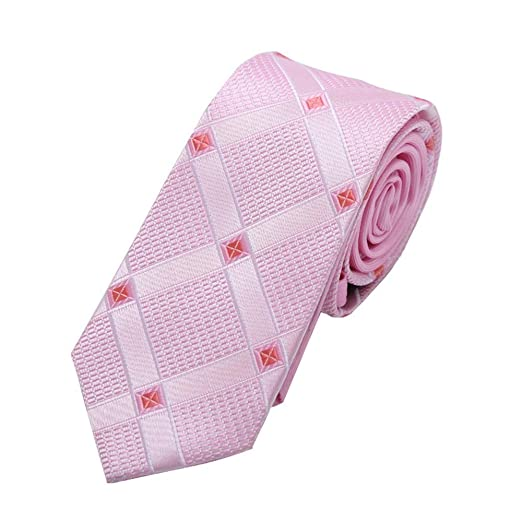 Easy Go Shopping Corbata para Hombre Corbata Rosa 6 cm Accesorios ...
