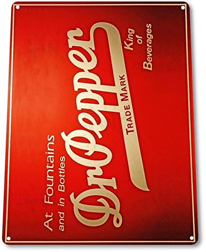 Amazon Com Rtxs Tin Sign Dr Pepper Fountains Food Metal Decor