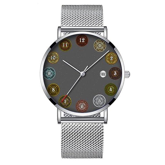Minimalista Moda Cuarzo Reloj de Pulsera Elite Ultra Thin Impermeable Reloj Deportivo con Fecha con Banda