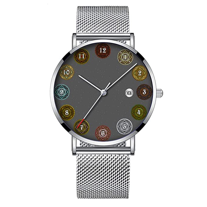 Minimalista Moda Cuarzo Reloj de Pulsera Elite Ultra Thin Impermeable Reloj Deportivo con Fecha con Banda de Malla 309.El Reloj Zodiac: Amazon.es: Relojes