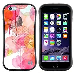 "Hypernova Slim Fit Dual Barniz Protector Caso Case Funda Para Apple (5.5 inches!!!) iPhone 6 Plus / 6S Plus ( 5.5 ) [Blanco Rosa Lunares amarillos""]"