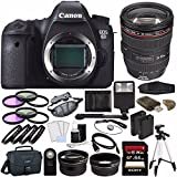 Canon EOS 6D DSLR Camera (Body Only) + Canon EF 24-105mm f/4L IS USM Lens + Battery + Sony 64GB SDXC Card + Canon EOS Shoulder Bag 100ES + Tripod + Flash + Remote + HDMI + Card Reader