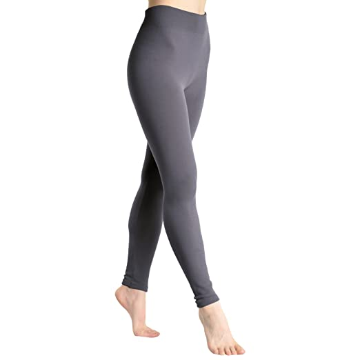Angelina Plush Lined Leggings 1506 Gray At Amazon Women S Clothing