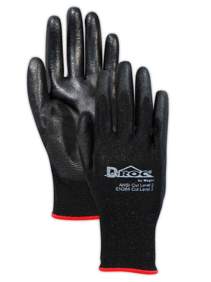 Magid Safety D-ROC Polyurethane Palm Coated Work Gloves