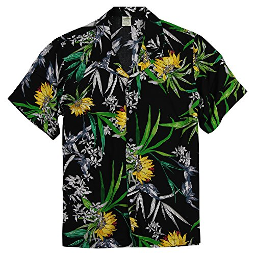 (Urban Boundaries Men's Short Sleeve Rayon Hawaiian Tropical Patterns Shirts (Kahoolawe, Medium))
