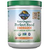 Garden of Life Raw Organic Perfect Food Energizer Juiced Green Superfood Powder - Yerba Mate Pomegranate, 30 Servings…