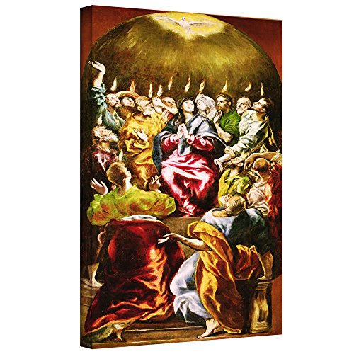Greco Painting - ArtWall El Greco's the Pentecost Gallery Wrapped Canvas, 18