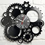 Steampunk Gears Clock – Gothic Wall Clock – Vintage Steampunk Clock – Industrial Wall Clock Steampunk Gears Home Decor Vintage Wall Art Victorian Vinyl Decal Novelty Gift Steampunk Wall Clock Black