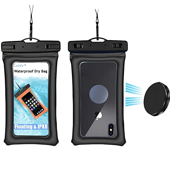 official photos 72c0e 29791 Floating Waterproof Phone Pouch,IPX8 Phone Case with Lanyard for Using  Outdoor Like Kayaking/Camping/Fly Fishing/Boating,Using Showe Holder for ...