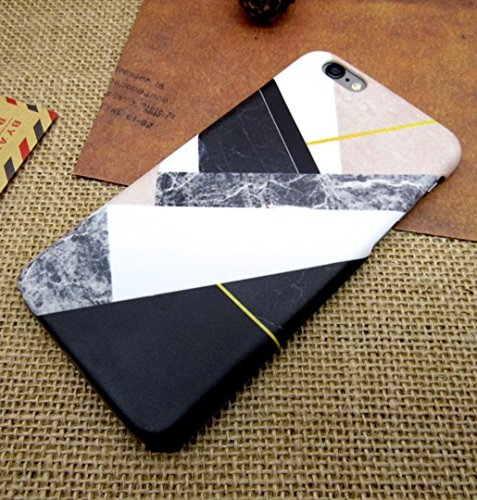 Losin iPhone 7 Plus / iPhone 8 Plus 5.5 Inch Case Fashion Luxury Granite Classic Geometric Mosaic Triangle Marble Pattern Hard PC Back (Geometric Design Mosaic)