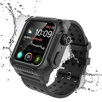 Fancartuk - Funda Impermeable para Apple Watch Series 4 (44 ...