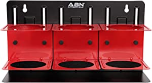 ABN Mountable Cup Holder, 3 Piece - Magnetic Spray Can Holder Toolbox Accessories, Tool Box Organization for Bottle