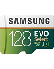 Samsung EVO Select microSDXC 128 GB Speicherkarte bis zu 100 MB/s, UHS-I U3 (inkl. SD Adapter)
