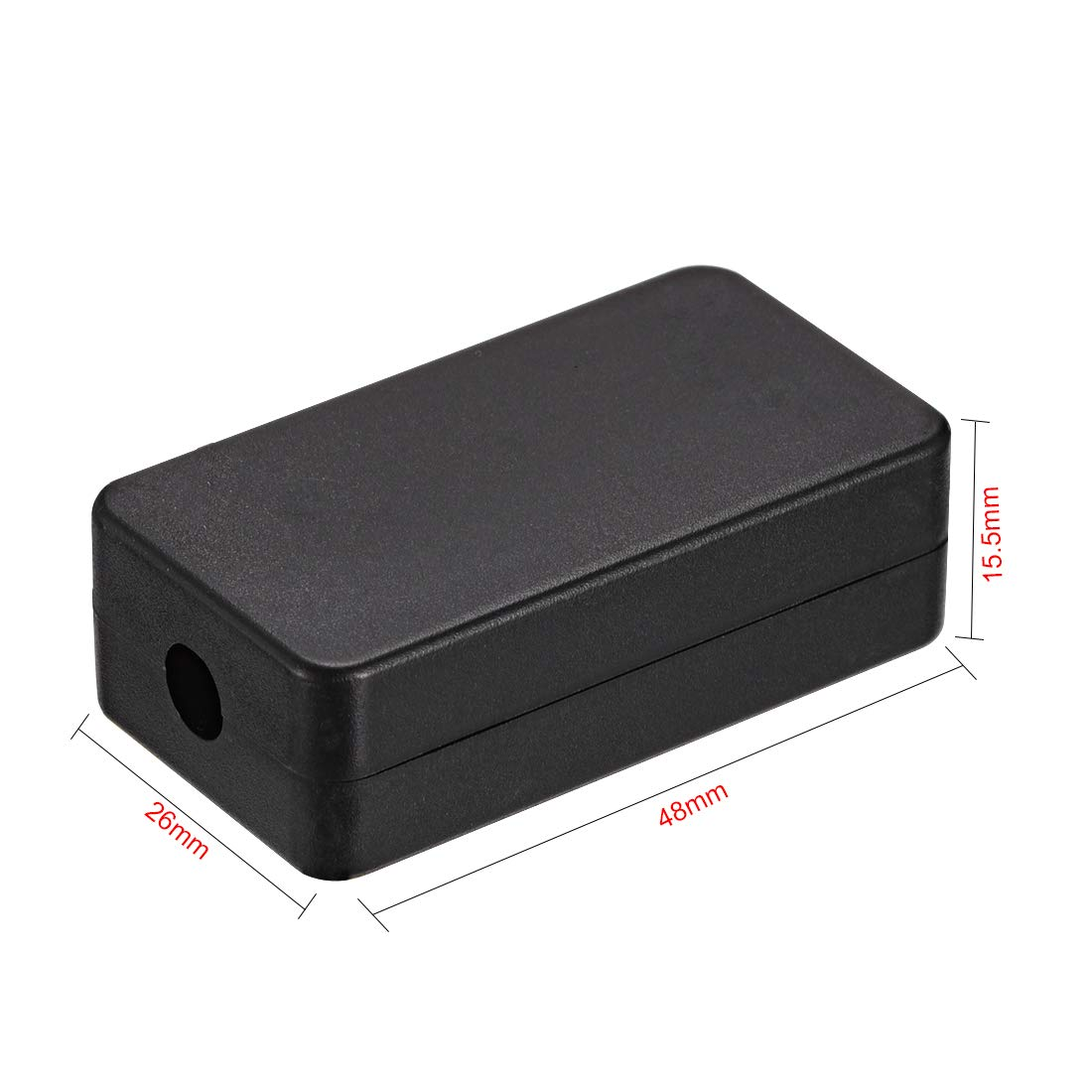 uxcell 5pcs Plastic Electric Project Case Junction Box 46x36x18mm