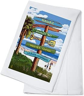 product image for Kauai, Hawaii - Destinations Sign (100% Cotton Kitchen Towel)