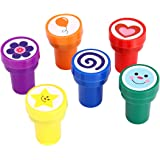 Stamps for Kids, LUCKYBIRD S1118 Best Self Inking Plastic Fun Stamps Set, 6 Count