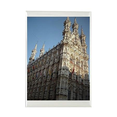 CafePress - Ciudad Hall, Lovaina, Bélgica - rectangular imán ...