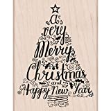 Hero Arts K5948 Rubber Stamps, Merry Christmas Tree