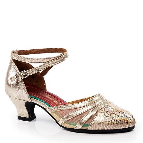 7c3fc680f47 WXMDDN Zapatos de Baile Latino de Oro Champán de Mujeres Adultas de Zapatos  de Baile Zapatos de Baile Al Aire Libre 3