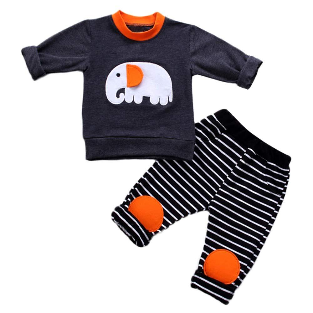 Moonker-Baby Outfits PANTS ユニセックスベビー 6 - 12 Months ブラック B07JLXKXZ3