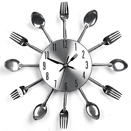 preliked cocina cubiertos Reloj de pared con cuchillo ...