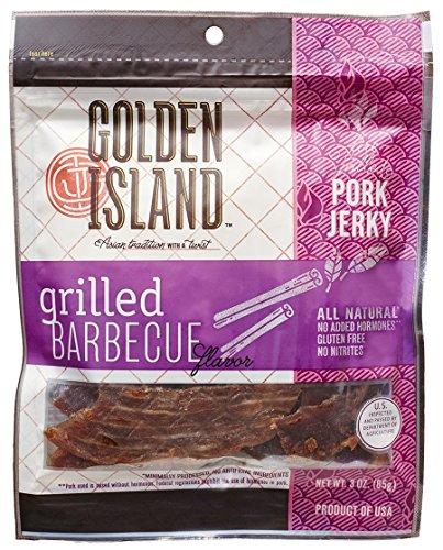 Golden Island Grilled BBQ Pork Jerky, 3 oz.