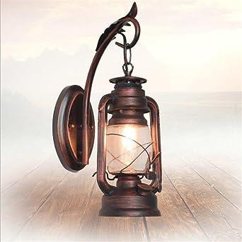 220V Industrial Vintage Antik Laterne Wandlampe Wandleuchte Beleuchtung Lampe DE