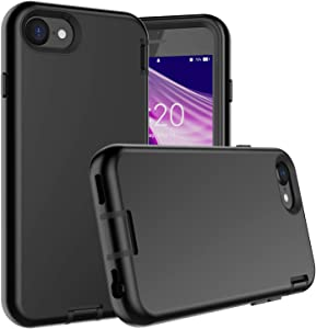 Communikart Phone Case Compatible with iPhone SE 2020, Shockproof Full Inner PC Cover with Anti Scratch Premium Soft TPU Outer Case for iPhone SE 2020, Perfect Grip (Black)