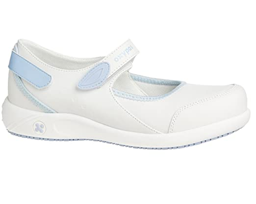 Oxypas Move 'Lilia' Slip-resistant, Antistatic Leather Nursing Shoes with Coolmax Lining