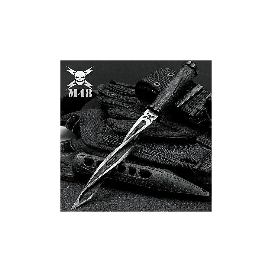 M48 Cyclone Tri Edged Spiraling Dagger Knife With Custom Vortec Sheath