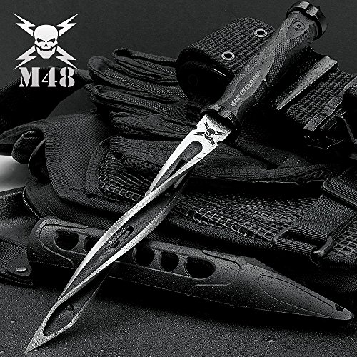M48 Cyclone Tri-Edged Spiraling Dagger Knife With Custom Vortec Sheath