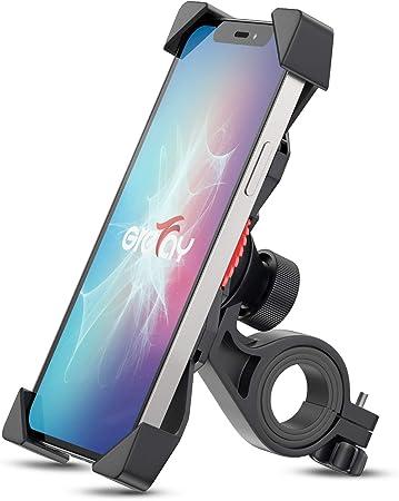 Grefay Fahrrad Handyhalterung Universal Motorrad Handy Halterung Für 3 5 6 5 Zoll Smartphone Mit 360 Drehbar Sport Freizeit