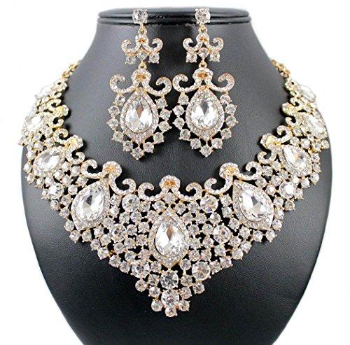 Bridal Austrian Crystal Rhinestone Necklace - 8