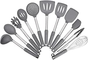 Kitchen Utensil Set,Silicone Cooking Utensils,Stainless Steel Kitchen Utensils Set,Silicone Spatula Set Utensil Set,Silicone Utensils Cooking Utensil Set,Kitchen Tools Gadgets
