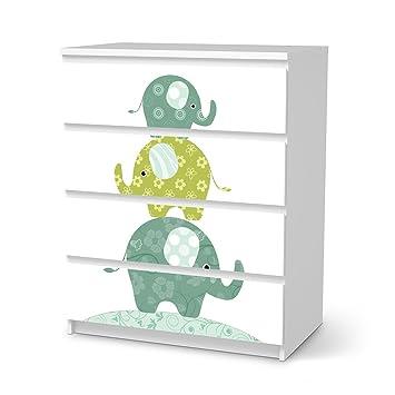 Creatisto Möbel Folie Ikea Malm 4 Schubladen Aufkleber I Deko Für Baby Zimmer Und Kinder Zimmer I Möbel Sticker Passend Für Wickelkommode