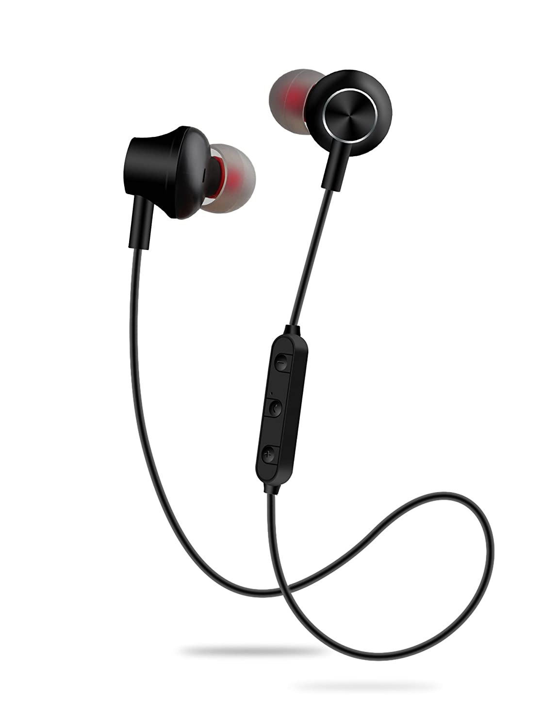 Wiw Bluetooth Headphones Wireless Earbuds Magnetic Stereo Earphones IPX4 Gym Earphones with Built-in Mic Black