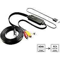Ansteker HDMI to AV Converter Adapter (Black)