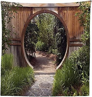 vipsung Japonés Decor Mantel auténtico círculo rústico Puerta ...