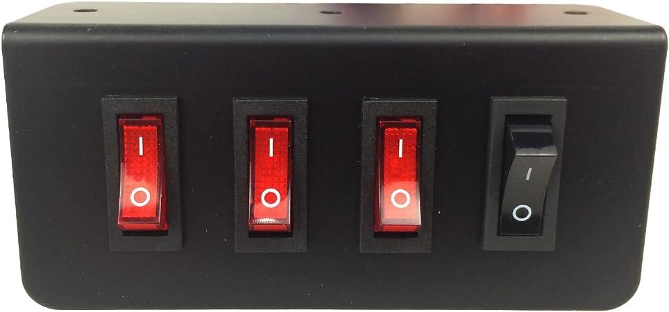 Black Switch Box Aluminum Strobe Light 12V 20 Amp 130mmx100mmx40mm Durable