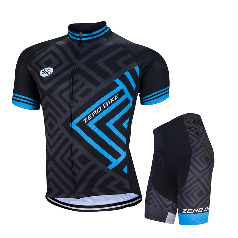 ZEROBIKE® Men Cycling Jersey Bicycle Bike Cycle Short Sleeve Jersey Jacket Comfortable Breathable Shirts Tops Sportswear karru