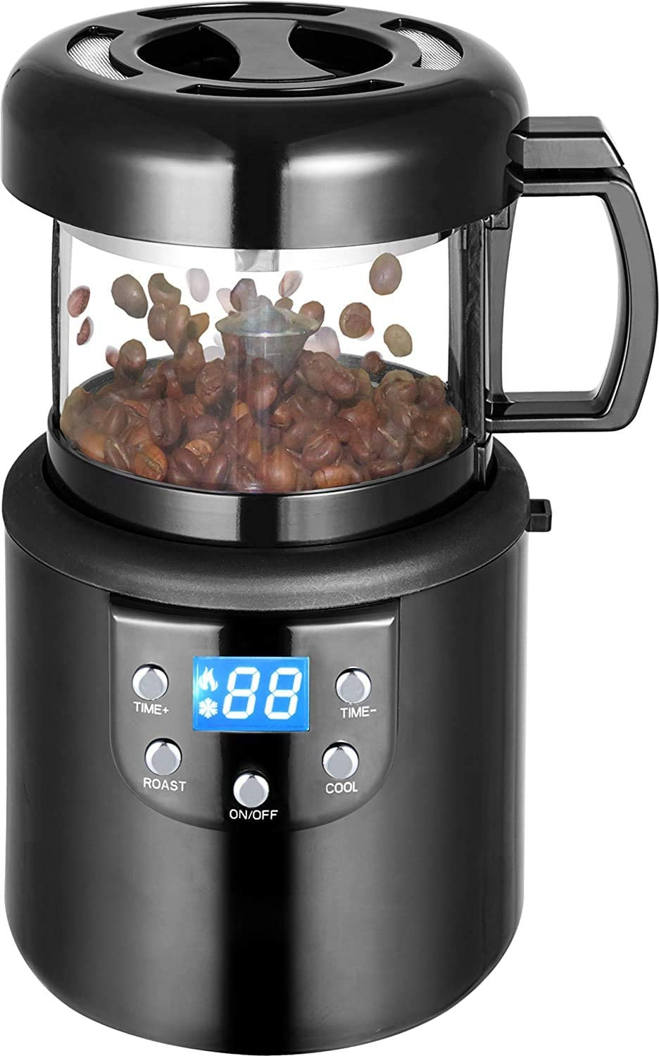 Coffee Roaster, Automatic Hot Air Coffee Roaster, 110V Electric Coffee Bean Roaster Machine Peanuts Nuts Popcorn Coffee Bean Baking Machine for Home Use