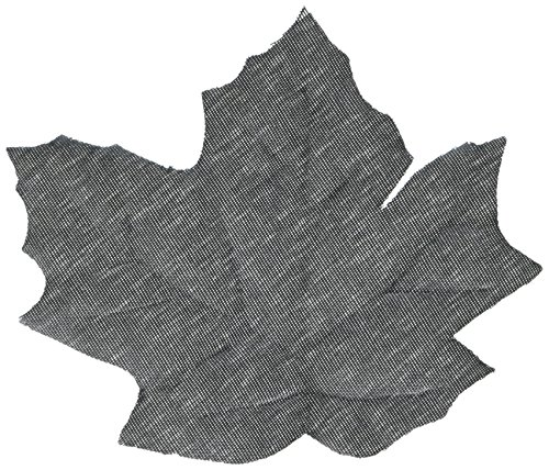 Cut Out Leaf - Eerie Boneyard Halloween Party Black Leaves Cut Out Table Decoration, Fabric, 2