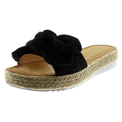 c11c314abf6c Angkorly - Chaussure Mode Mule Sandale Slip-on Plateforme Femme Noeud Corde  tréssé Talon compensé