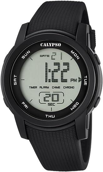 Calypso K5698/6 - Reloj de Pulsera Unisex, Plástico, Color Negro