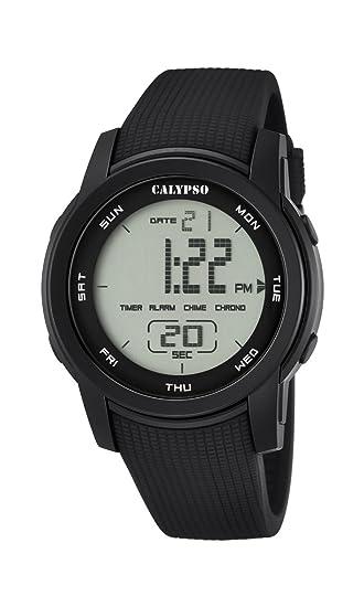 Calypso K5698/6 - Reloj de Pulsera Unisex, Plástico, Color Negro: Amazon.es: Relojes