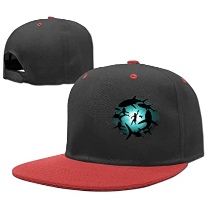 Gorras béisbol Baseball Caps Hip Hop Hats Man Swim Shark Boys-Girl